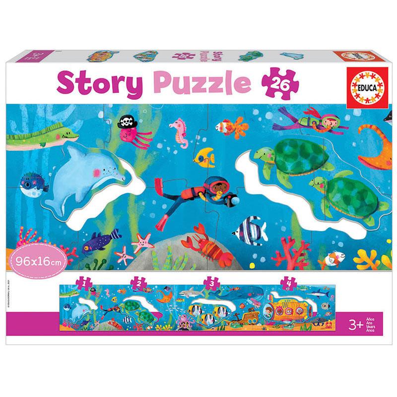 Puzzle Panorámico 26 pcs Story Mundo Submarino