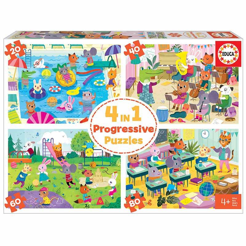 Héroes en acción puzzle progresivo