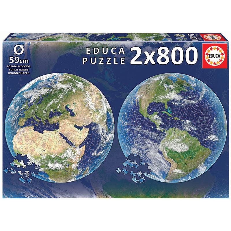 2x800 Planeta Tierra Round Puz