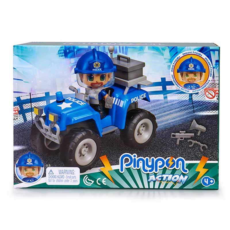 Pinypon Action policía com Quad