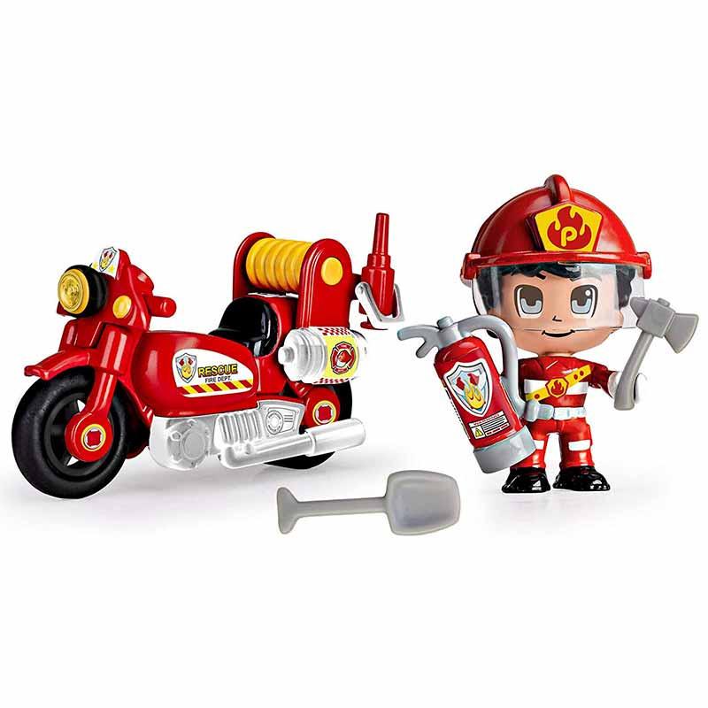 Pinypon Action moto de bombero