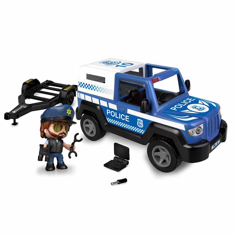 Pinypon Action pickup y lancha policía