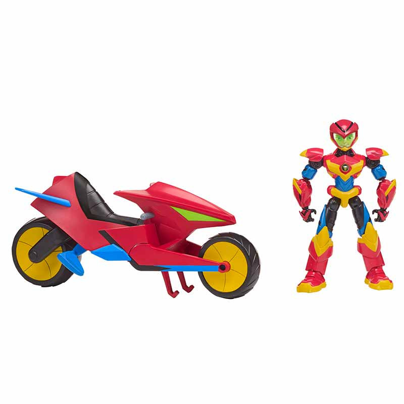 Power Players moto de Axel con figura