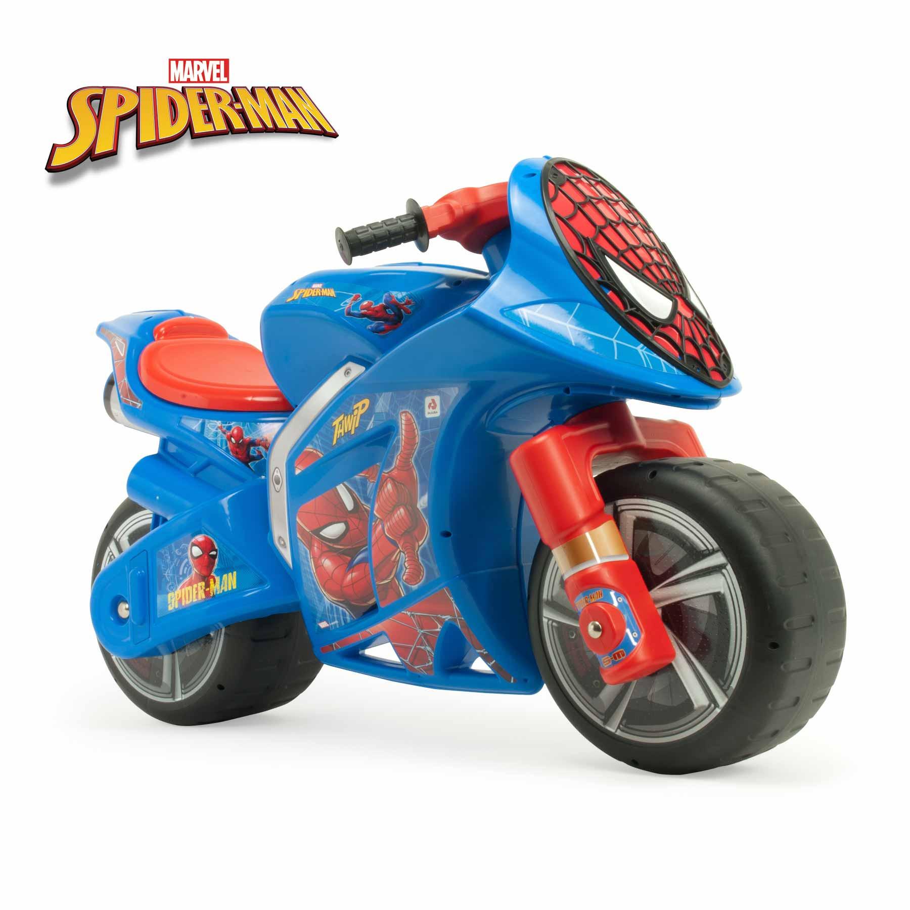 Moto Correpasillos XL Wind Spiderman Color Azul