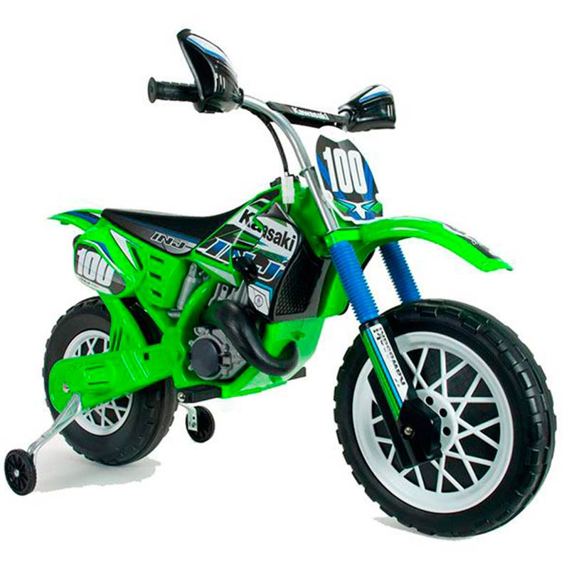 Moto de cross eléctrica Kawasaki de 6v