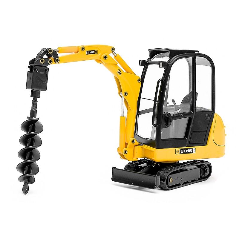 Mini Excavadora Jcb 8016 con Perforadora 1:25