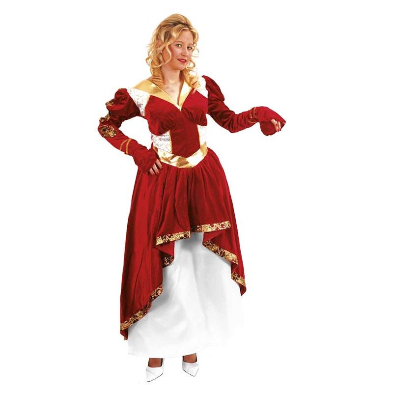 Disfraz Reina Rojo Dorado Adulto T/U