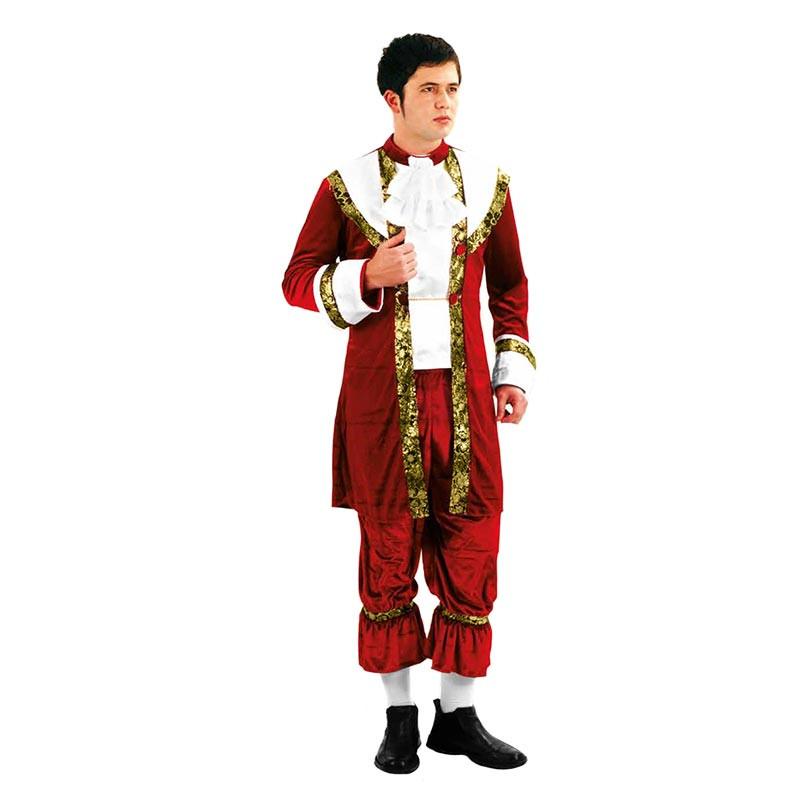 Disfraz Rei rojo Dorado Adulto T/U