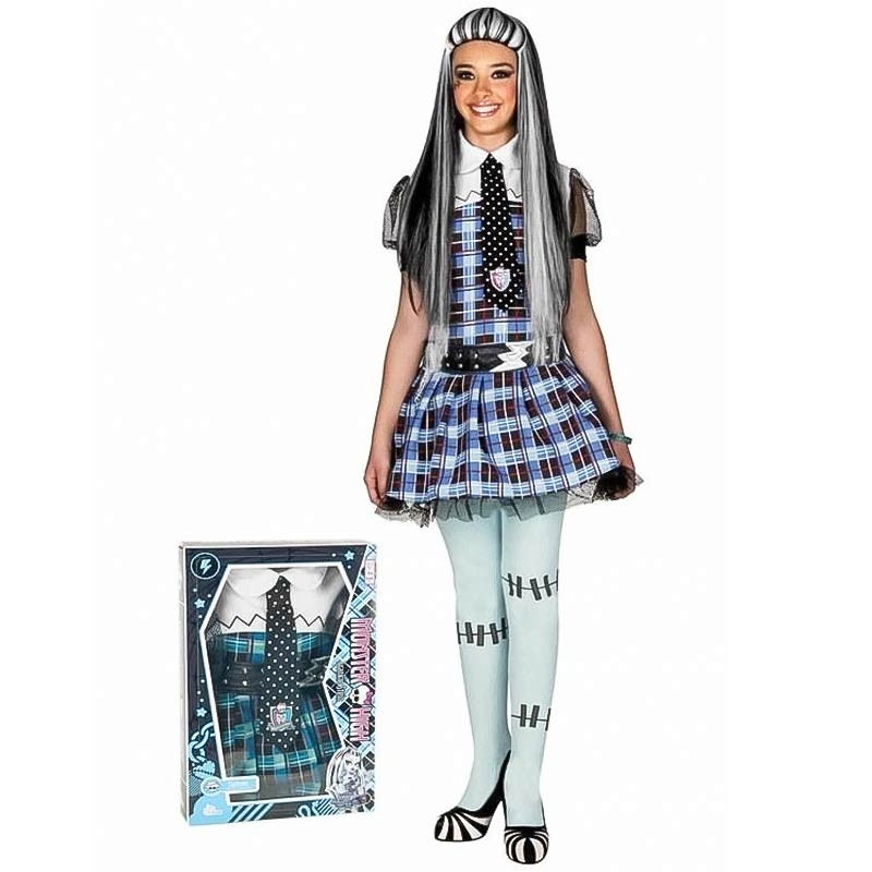 Disfraz Monster High Frankie Stein con peluca