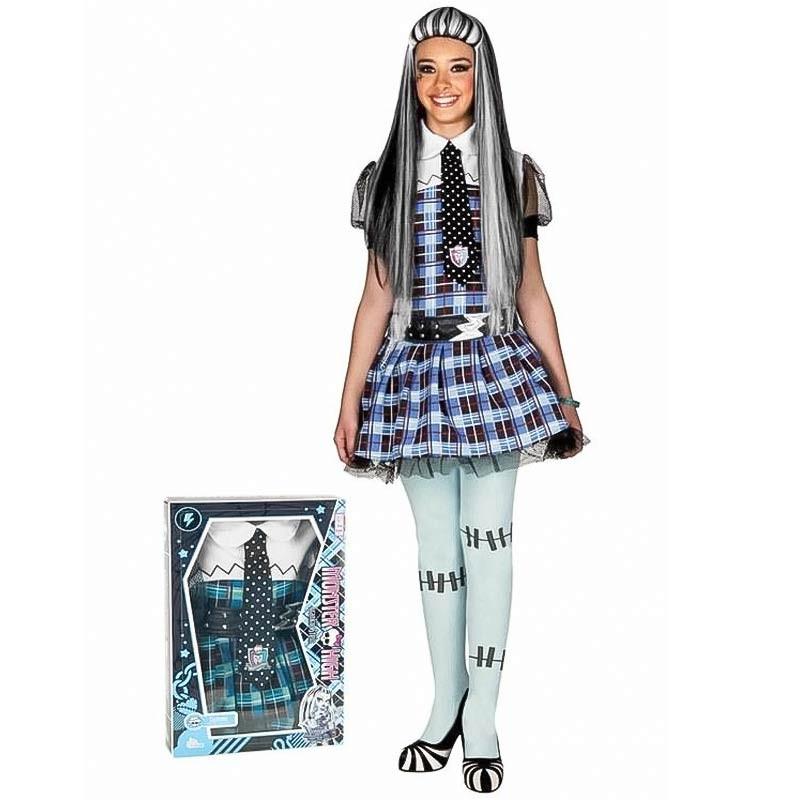 Disfraz Monster High Frankie Stein con peluca
