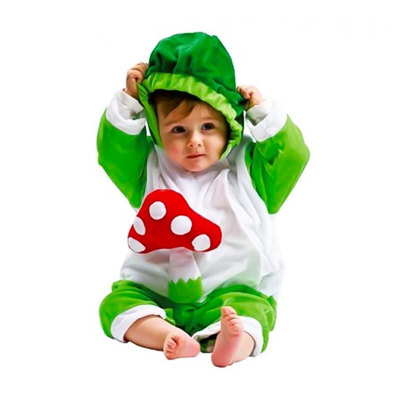 Disfraz peluche bebé champiñón verde