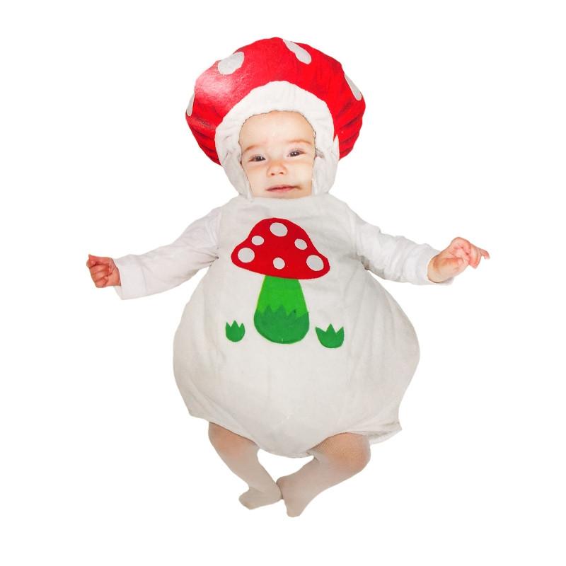 Disfraz peluche bebé champiñón blanco