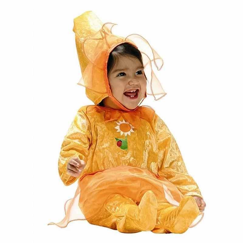 Disfraz Flor Amarela Bebe