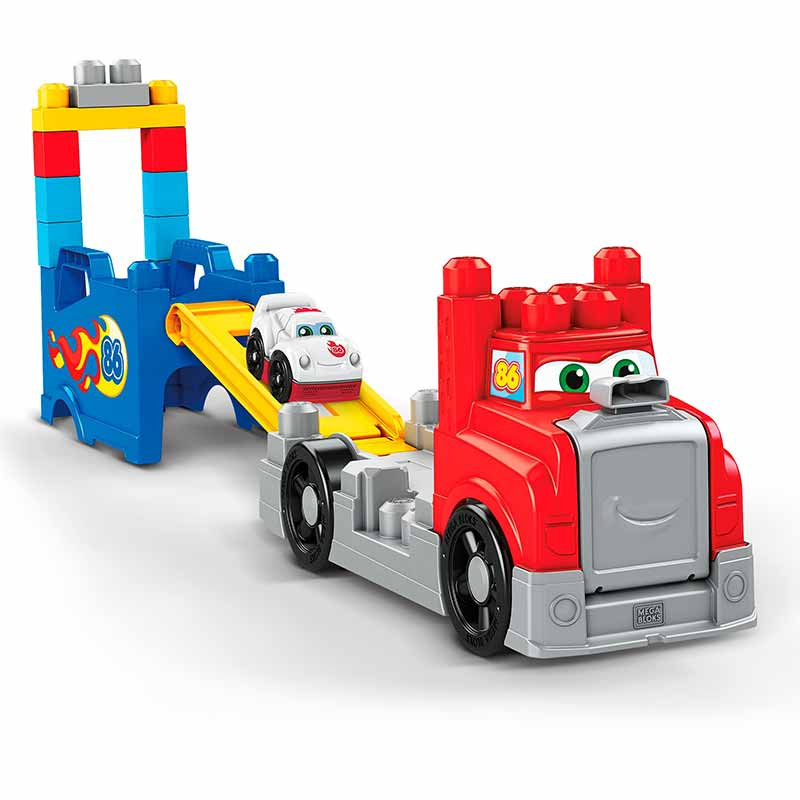 Mega Bloks camión carretas y construcción