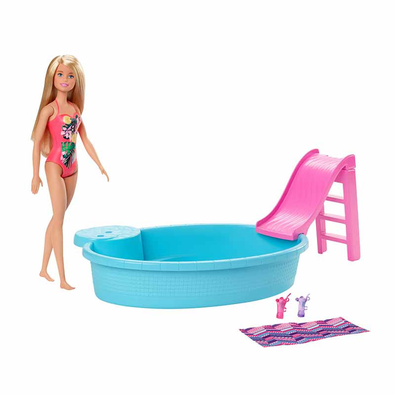 Barbie con piscina