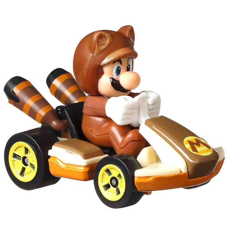 Hot WHeels coche Mario Kart Tanooki