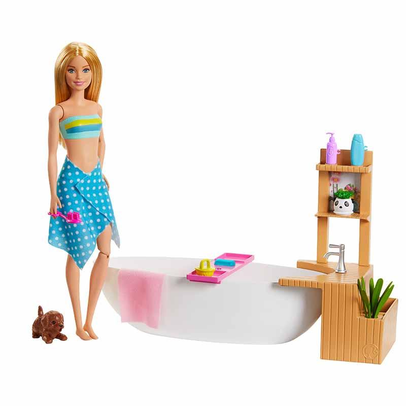 Barbie baño con burbujas