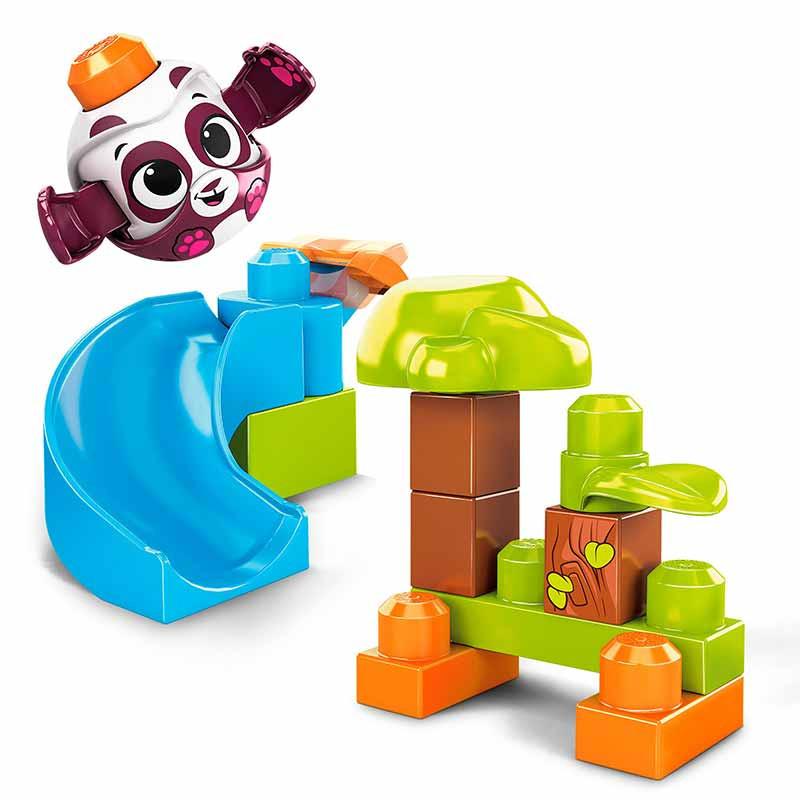 Mega Bloks Panda lanza y rueda Peek a block