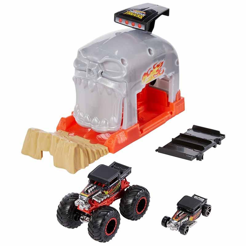 Hot Wheels Monster Truck juego apunta y lanza