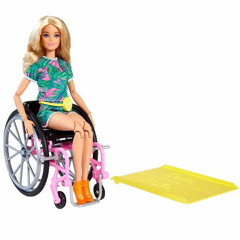 Barbie Fashionista silla de ruedas y rampa