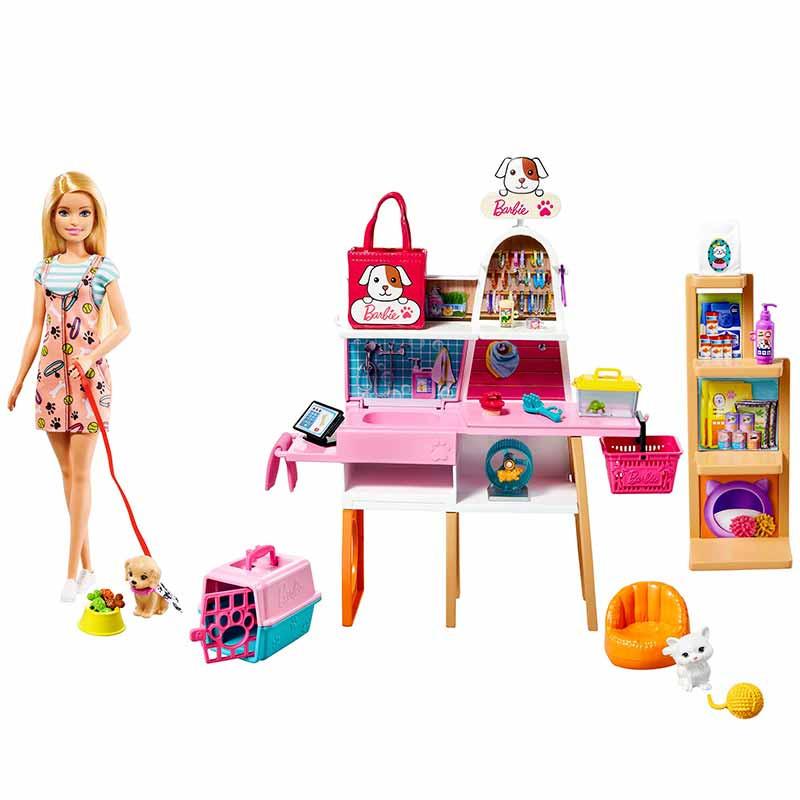 Barbie Tienda de mascotas Muñeca y accesorios