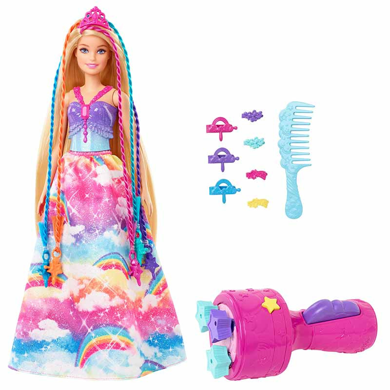 Barbie Dreamtopia princesa trenzas colores