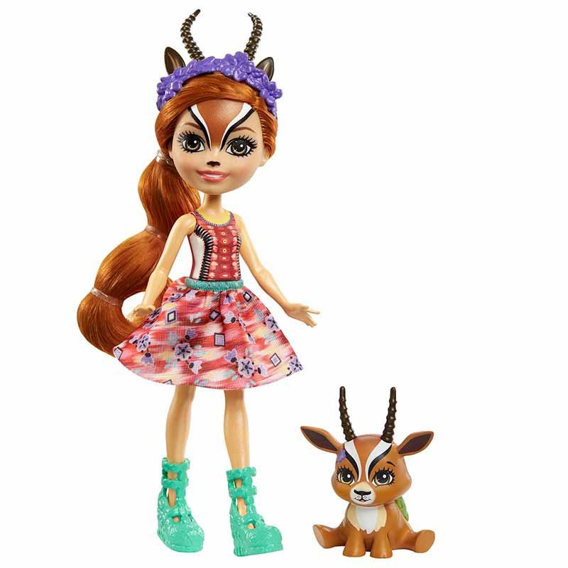 Enchantimals Gabriela Gazelle y Racer con mascota