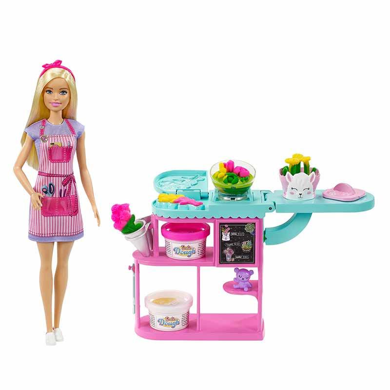 Barbie Floristería Muñeca rubia con accesorios