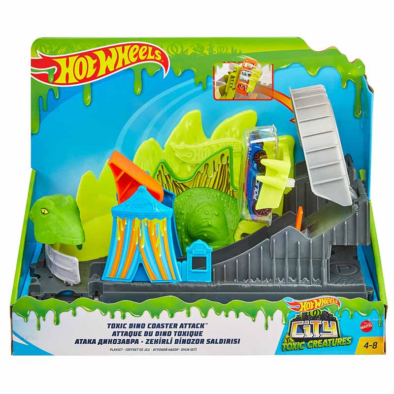 Hot Wheels City Ataque del dinosaurio