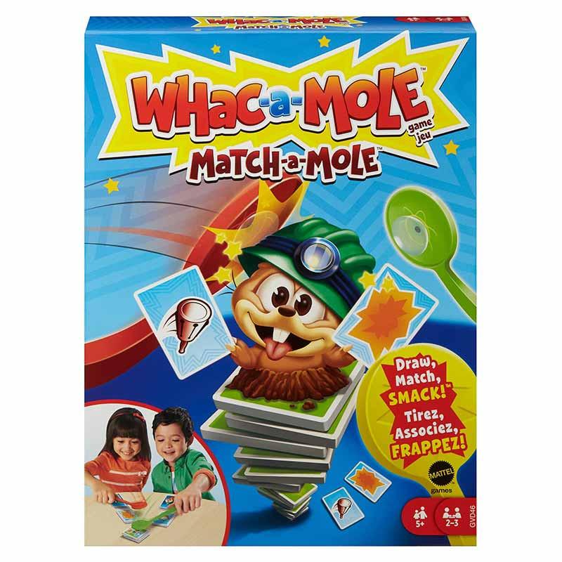 Jogo de cartas Match-a-mole de Whac-a-mole