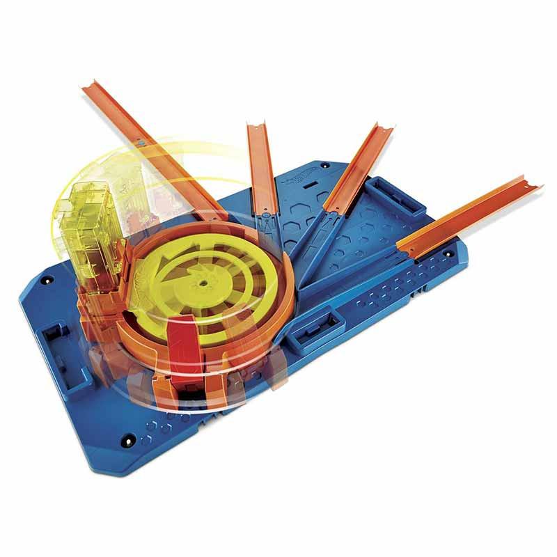 Hot Wheels caja de pistas con lanzador