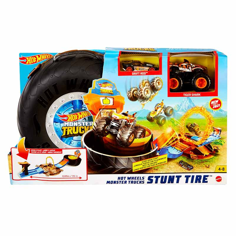 Hot Wheels Monster Truck rueda acrobacias