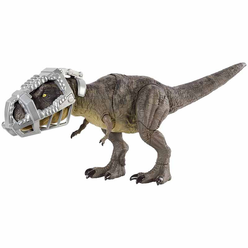 Jurassic World T Rex pisa y ataca