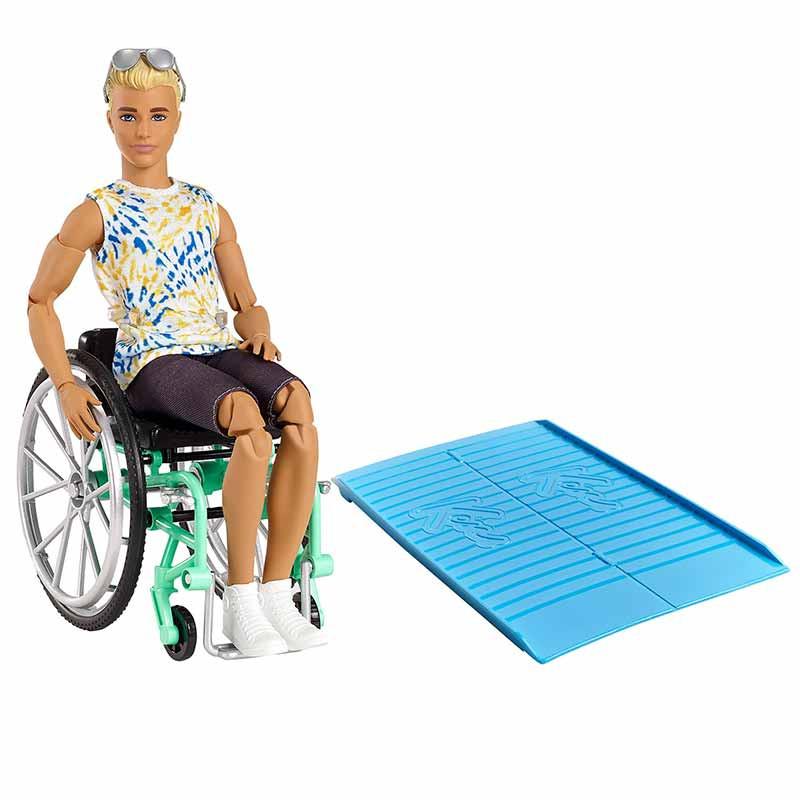 Ken Fashionista con silla de ruedas y rampa