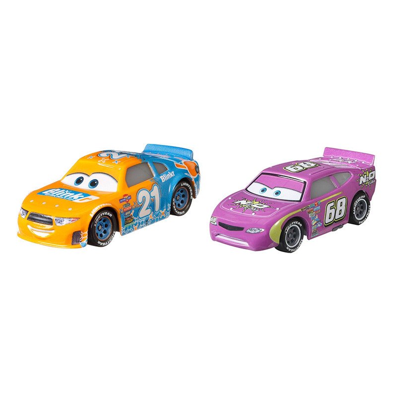 Cars Pack de 2 vehículos Cars 3 Blinkr & N2O