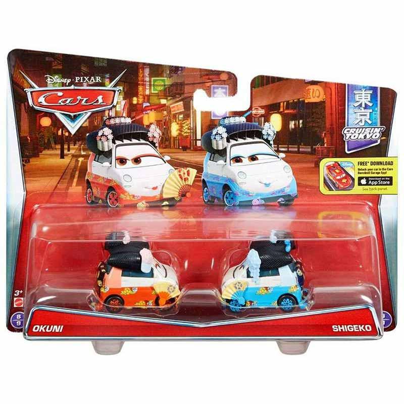 Cars Pack de 2 vehículos Cars 3 Okuni y Shigeko