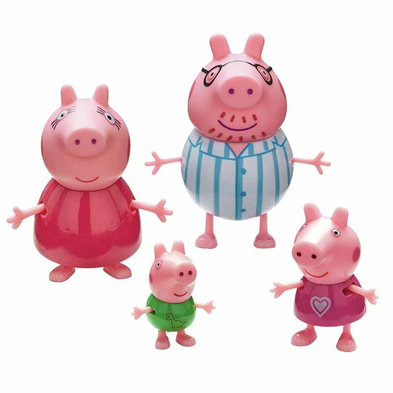 Peppa Pig Pack 4 figuras - familia