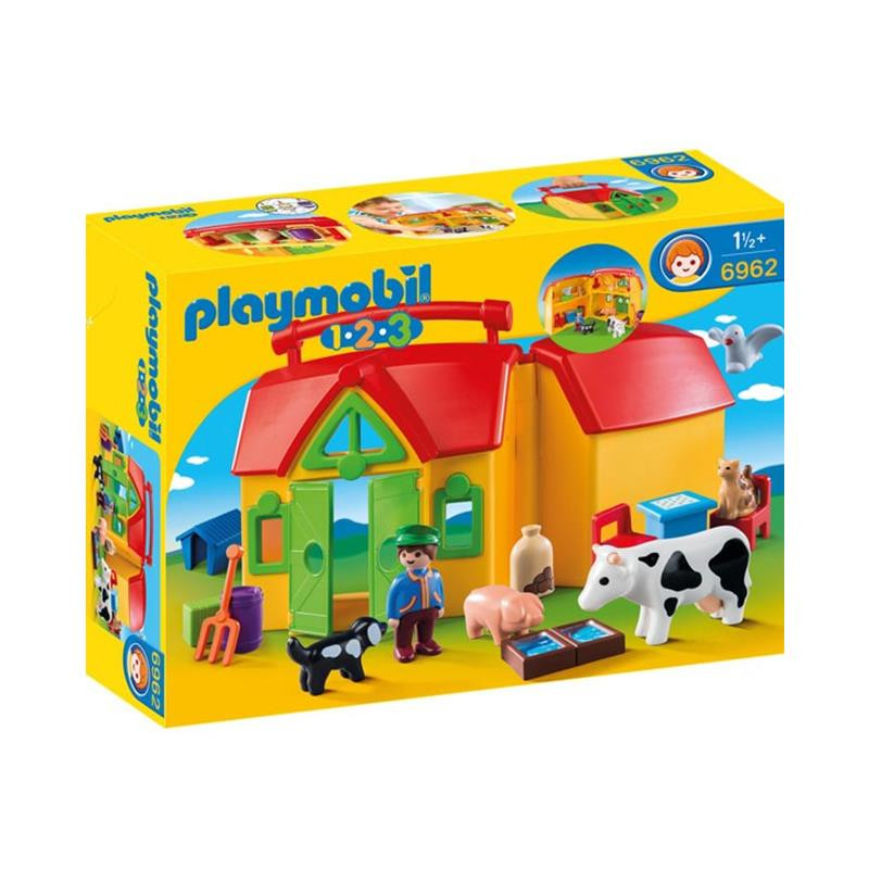 Playmobil 1.2.3 granja maletín