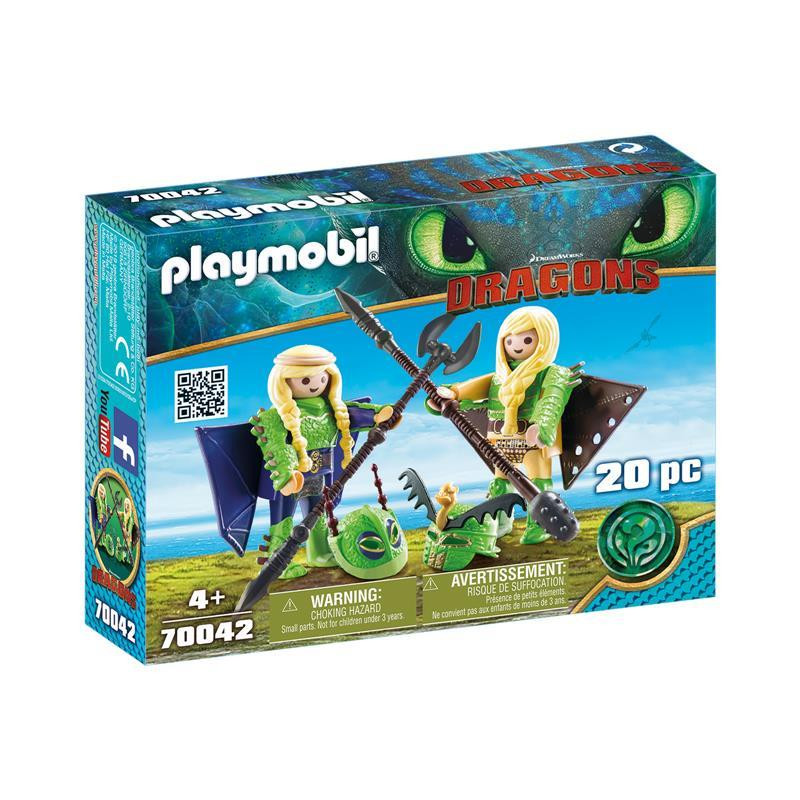 Playmobil Dragons Chusco y Brusca traje volador