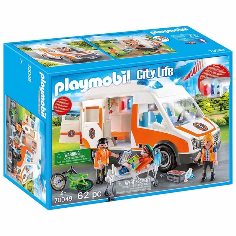 Playmobil City Life Ambulancia con Luces y Sonido