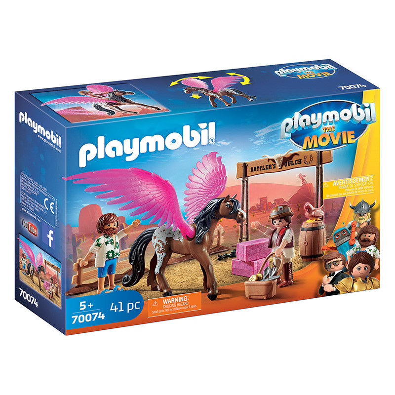 Playmobil The Movie Marla, Del y caballo con alas
