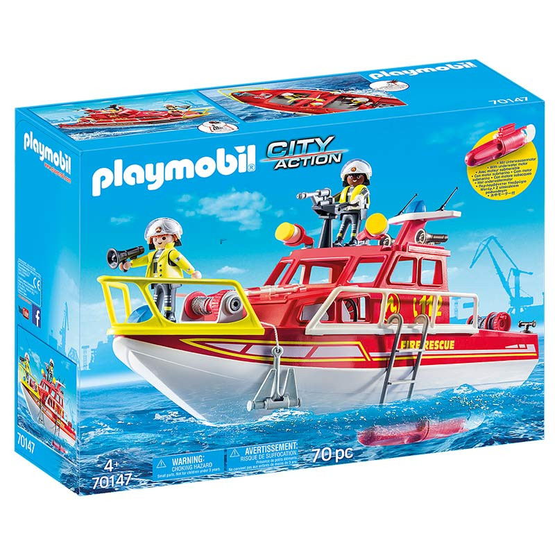 Playmobil Barco de Bomberos