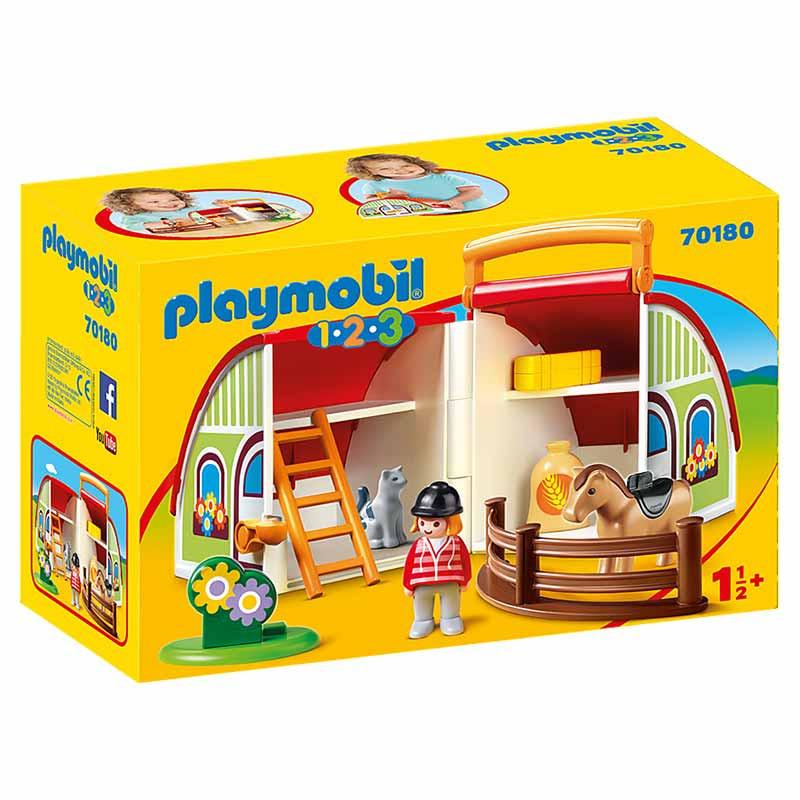 Playmobil 1.2.3 Mi Primera Granja Maletín