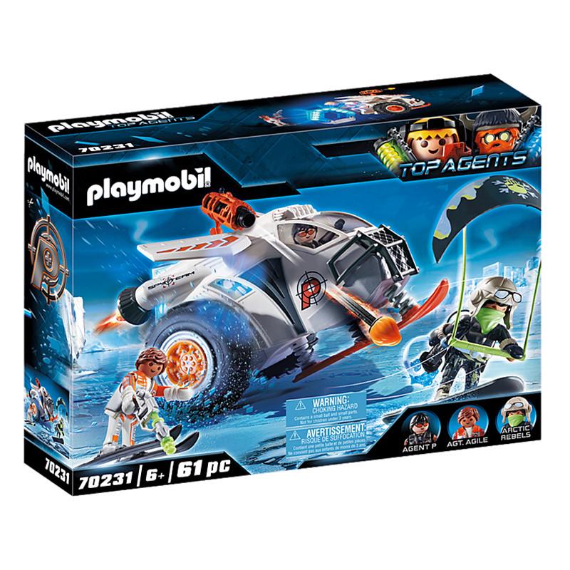Playmobil Top Agents Spy Team planeador de nieve