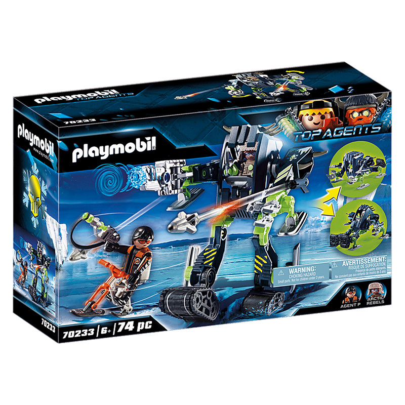 Playmobil Top Agents Arctic Rebels robot de hielo