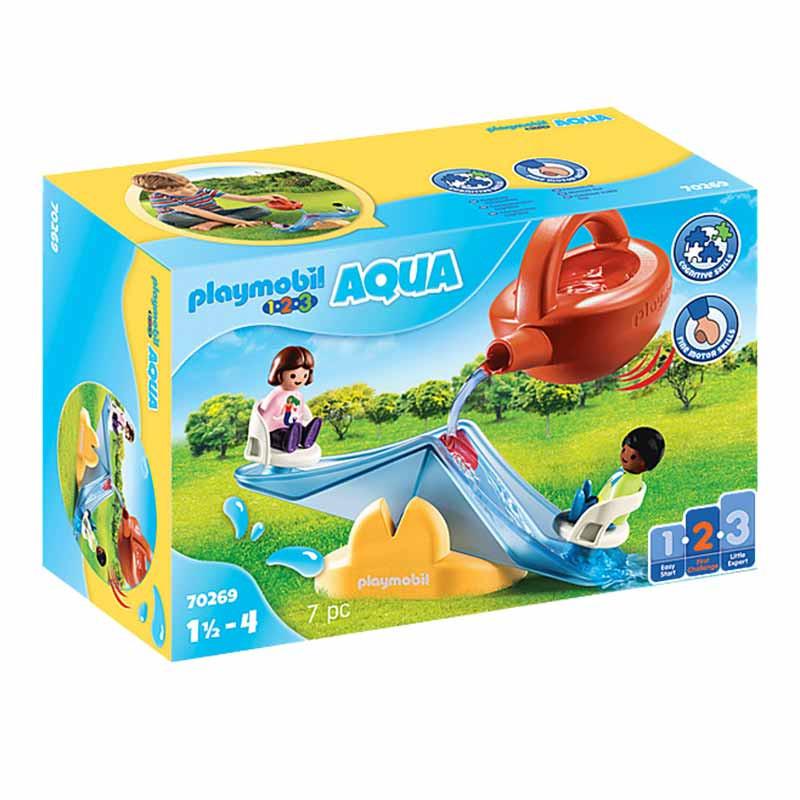 Playmobil 1.2.3 balancín acuático con regadera