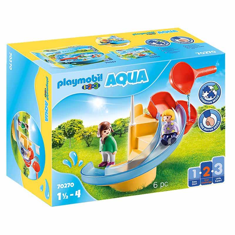 Playmobil 1.2.3 tobogán acuático