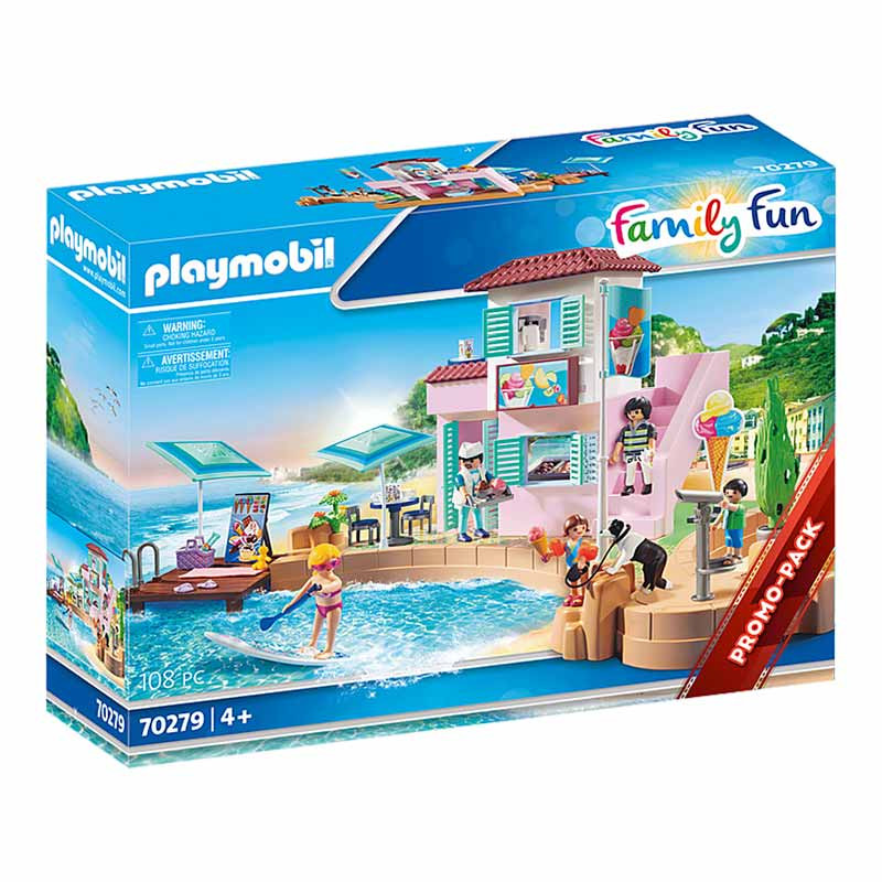 Playmobil Family Fun heladería en el puerto