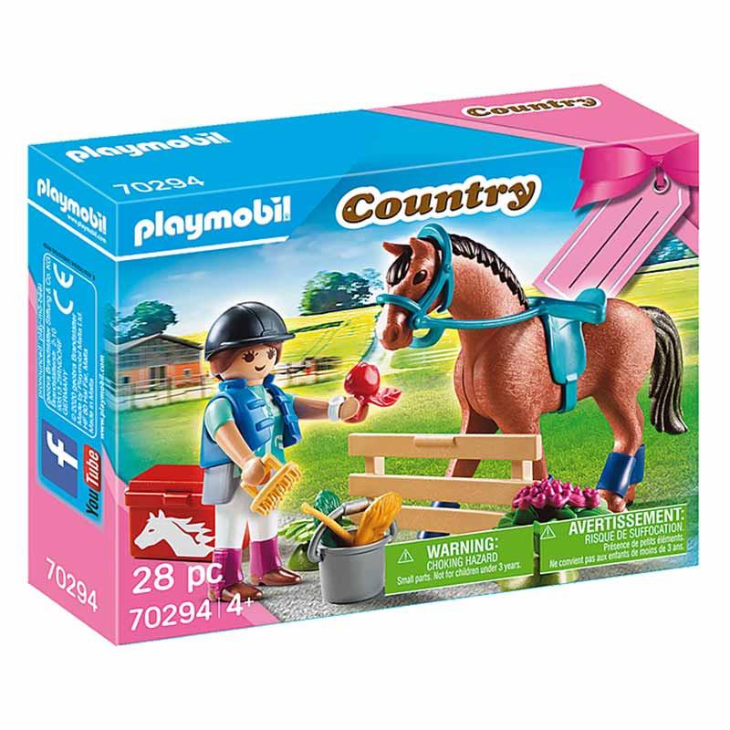 Playmobil set granja caballos