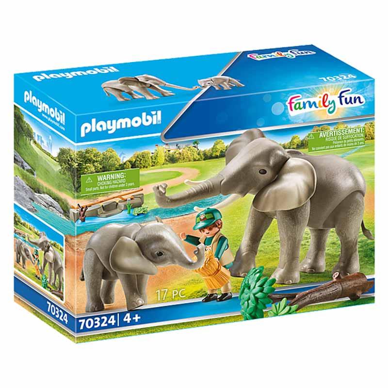 Playmobil Family Fun recinto exterior de elefantes